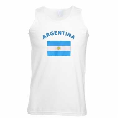 Mouwloos t-shirt met argentijnse vlag mouwloos t-shirt