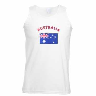 Mouwloos t-shirt met australische vlag