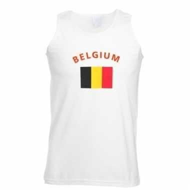 Mouwloos t-shirt met belgische vlag