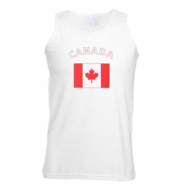 Mouwloos t-shirt met canadese vlag
