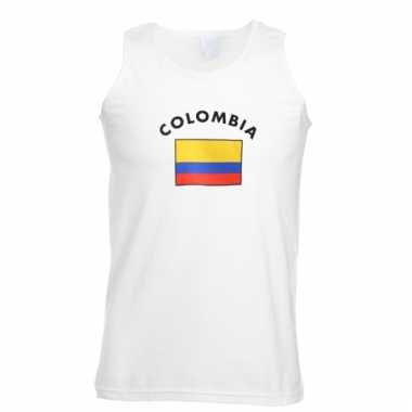 Mouwloos t-shirt met colombia vlag mouwloos t-shirt