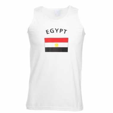 Mouwloos t-shirt met egyptische vlag