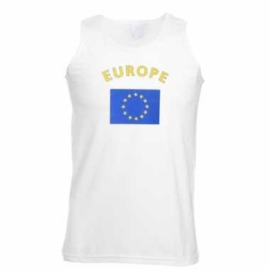 Mouwloos t-shirt met europese vlag