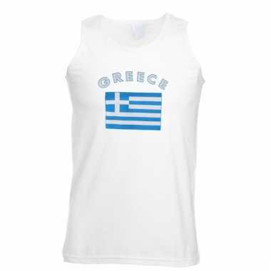 Mouwloos t-shirt met griekse vlag