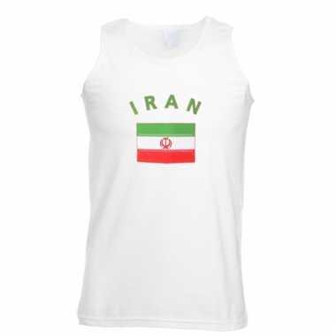 Mouwloos t-shirt met iran vlag mouwloos t-shirt
