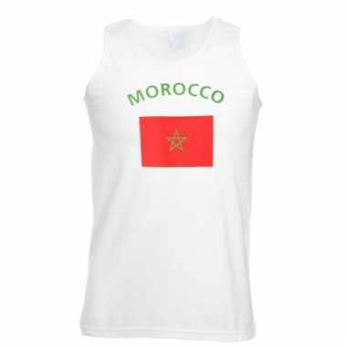 Mouwloos t-shirt met marrokaanse vlag