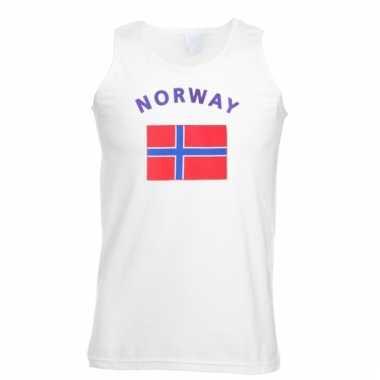 Mouwloos t-shirt met noorwegen vlag
