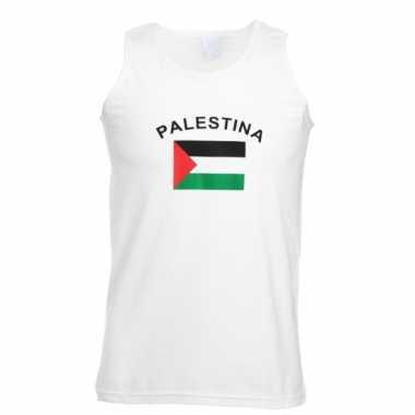 Mouwloos t-shirt met palestijnse vlag mouwloos t-shirt