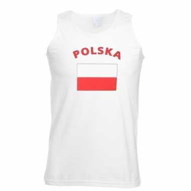 Mouwloos t-shirt met polska vlag