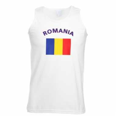Mouwloos t-shirt met romeense vlag