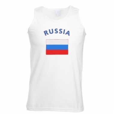 Mouwloos t-shirt met russische vlag
