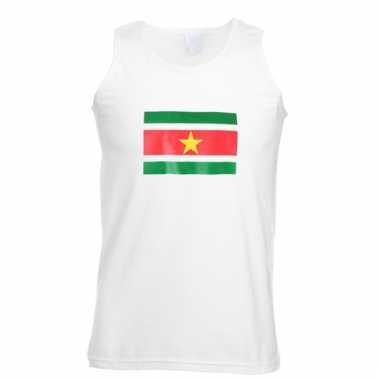 Mouwloos t-shirt met surinamevlag