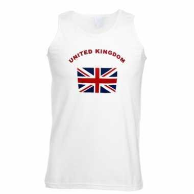 Mouwloos t-shirt met union jack vlag