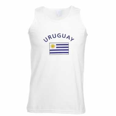 Mouwloos t-shirt met uruguay vlag mouwloos t-shirt