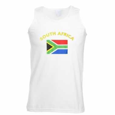 Mouwloos t-shirt met zuid-afrikaanse vlag