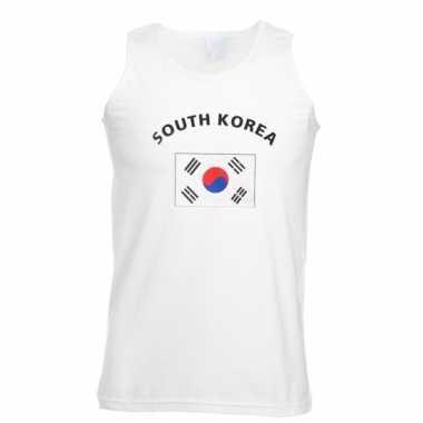 Mouwloos t-shirt met zuid korea vlag mouwloos t-shirt