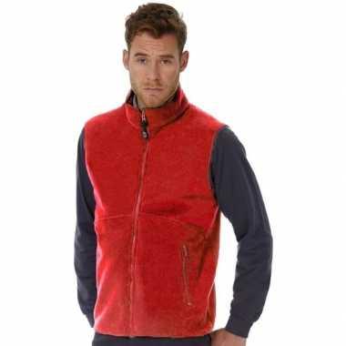 Mouwloze fleece sport vesten rood voor heren