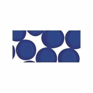 Mozaiek steentjes blauw rond