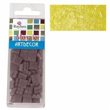 Mozaiek steentjes geel 220 gram
