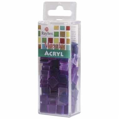 Mozaiek steentjes in violet kleuren