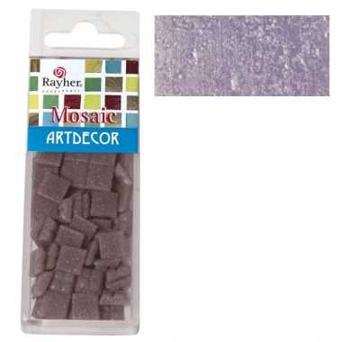 Mozaiek steentjes lila 220 gram