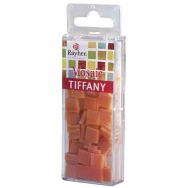 Mozaiek steentjes oranje 220 gram
