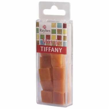 Mozaiek steentjes oranje 40 gram