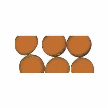 Mozaiek steentjes oranje rond