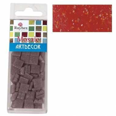 Mozaiek steentjes rood 220 gram