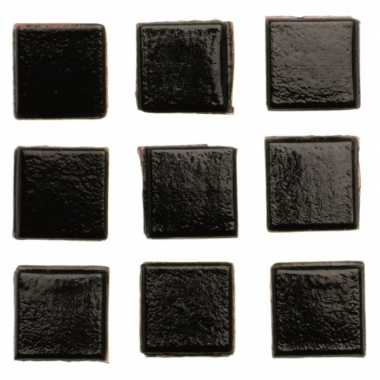 Mozaieken 140 zwarte steentjes 1 cm