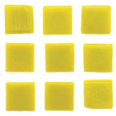 Mozaieken 30 gele steentjes 2 cm