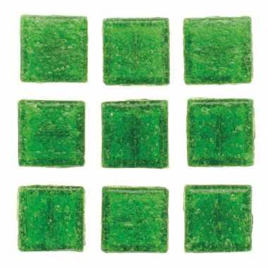 Mozaieken 30 groene steentjes 2 cm