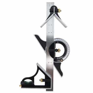 Multitool combinatiehaak / zwaaihaak / winkelhaak 30 cm
