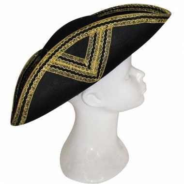 Musketier hoeden zwart