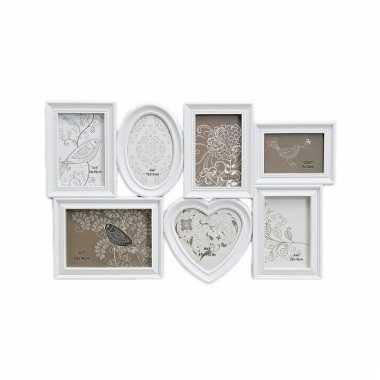 Muur frame fotolijst wit 55 x 35 cm
