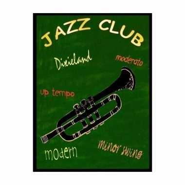 Muurdecoratie bordje jazz muziek 30 x 40 cm