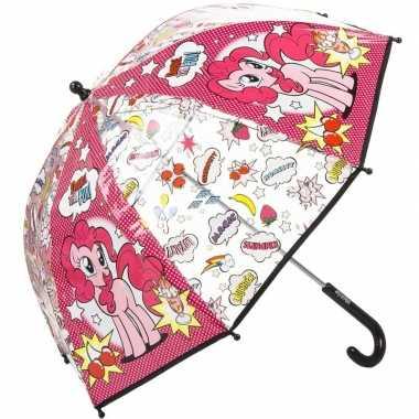 My little pony kleine paraplu roze 45 cm voor kinderen