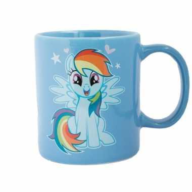My little pony mok/melkbeker blauw/regenboog 320 ml