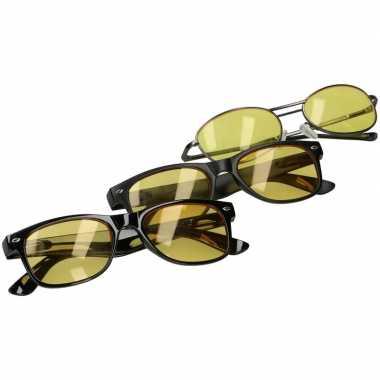 Nachtzichtbril mat zwart voor volwassenen