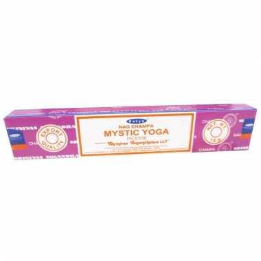 Nag champa wierookstokjes mystic yoga 15 gram