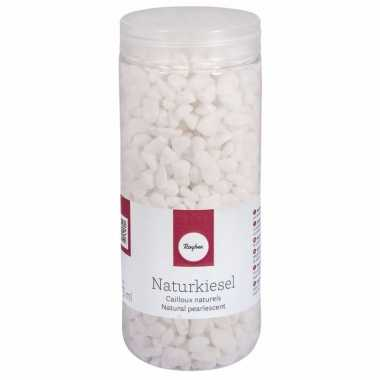 Natuurkiezel decoratie steentjes wit 5-8 mm
