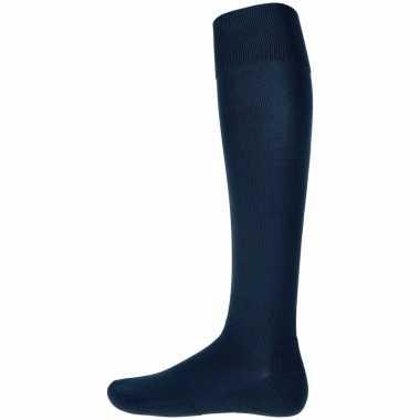 Navy blauwe hoge sokken 1 paar