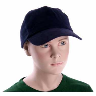 Navy blauwe kinder caps