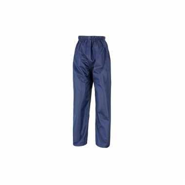 Navy blauwe regenbroeken voor volwassenen