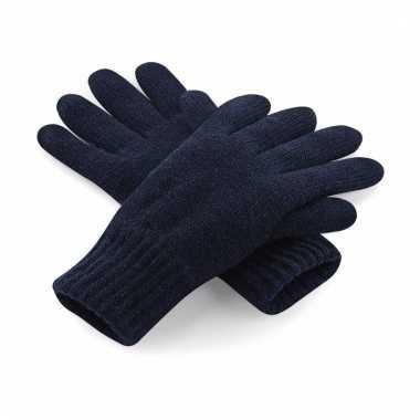 Navy polyacryl handschoenen