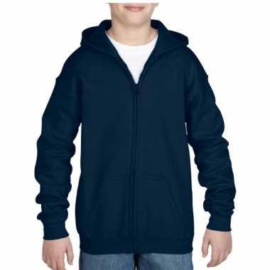 Navy sweater met rits voor jongens