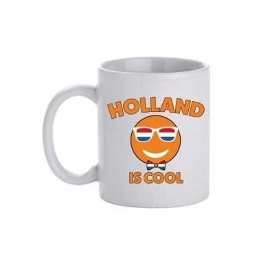 Nederland beker / mok met holland is cool print 300 ml