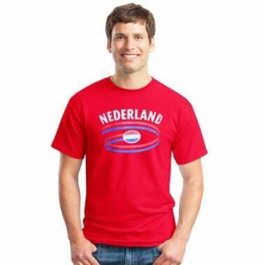 Nederland heren shirt rood
