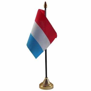 Nederland versiering tafelvlag 10 x 15 cm