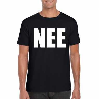 Nee fun t-shirt zwart voor heren